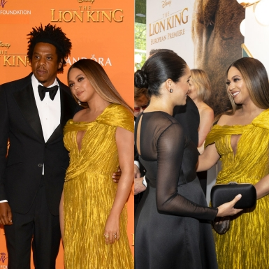 """Beyonce rạng rỡ trong đầm """"hàng thửa"""" của NTK Nguyễn Công Trí tại buổi công chiếu """"Lion King"""" ở London"""