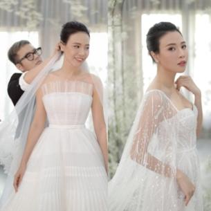 Cô dâu Đàm Thu Trang xinh đẹp trong váy cưới của NTK Chung Thanh Phong