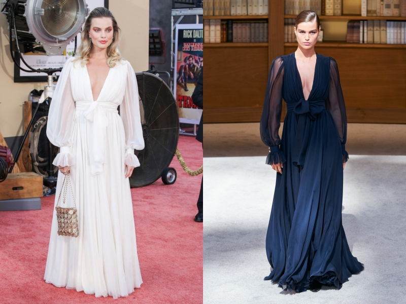 margot robbie, leonardo dicaprio, brad pitt, quentin tarantino, once upon a time in hollywood, công chiếu, chanel, haute couture