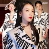 """Đụng hàng áo hiệu với Tóc Tiên, Lâm Tâm Như, """"bà chủ khách sạn Hotel Del Luna"""" IU được khen hết lời nhờ lối mix khác biệt"""