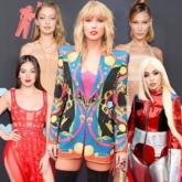 """Taylor Swift tái xuất sang chảnh, """"đọ dáng"""" gợi cảm với chị em Hadid trên thảm đỏ MTV VMAs 2019"""