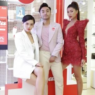 Khánh Linh, Đồng Ánh Quỳnh, Dustin Phúc Nguyễn xuất hiện tại không gian ngập tràn sắc đỏ thời thượng