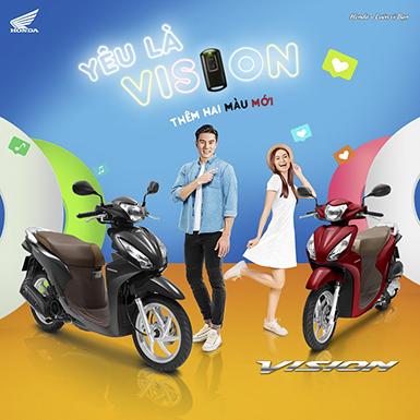 Honda Việt Nam giới thiệu Vision 2019 với hai màu mới