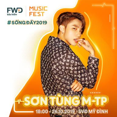Sơn Tùng, Tóc Tiên cùng nhiều ca sĩ nổi tiếng sẽ biểu diễn tại FWD Music Fest