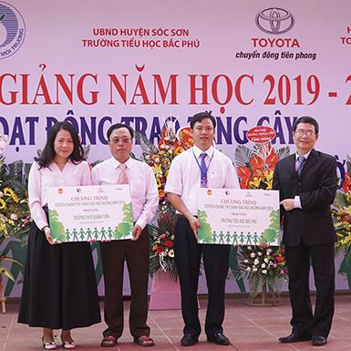 Toyota chung tay xanh hóa học đường năm 2019 tại 6 tỉnh thành