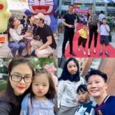 Sao Việt gửi chia sẻ hình ảnh đưa con đến trường trong ngày khai giảng năm học mới