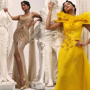 """H'Hen Niê hoá """"Nữ thần Hy Lạp"""" trong trang phục của NTK Linh San"""