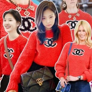 """Jennie (BLACKPINK) gây """"bão"""" khi diện áo len Chanel 50 triệu đồng, """"đụng hàng"""" loạt sao thế giới"""