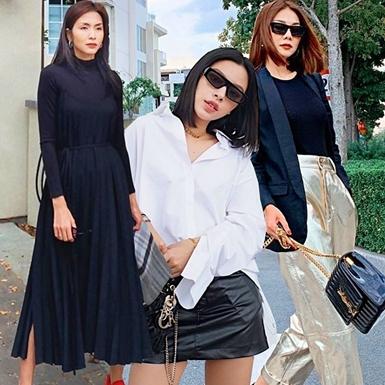 Thanh Hằng, Hà Tăng và dàn mỹ nhân khoe street style ngập tràn gam màu đen trắng