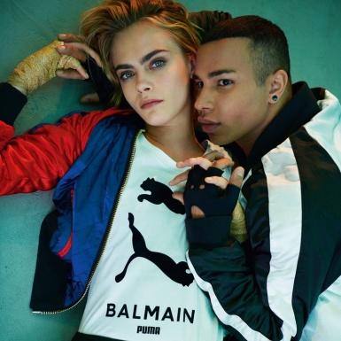 """Cara Delevingne """"kết duyên"""" thương hiệu Puma với nhà mốt Balmain"""