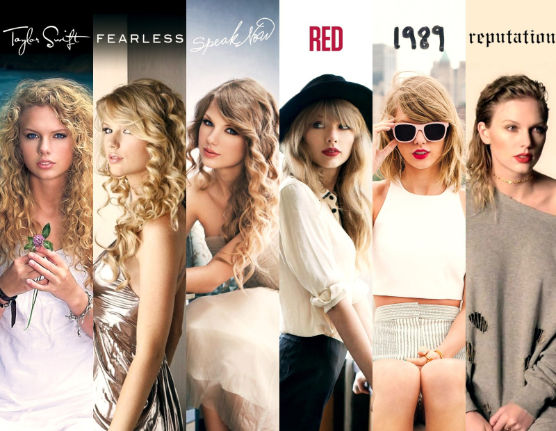 6 albums cũ của Taylor Swift