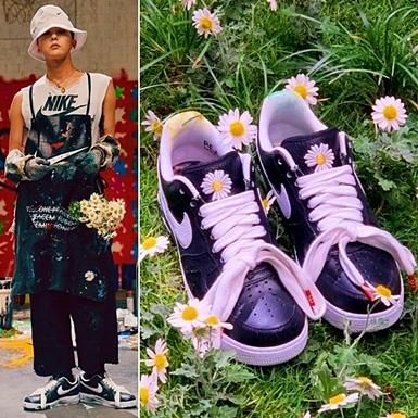 """Vừa tái xuất, G-Dragon đã gây bão toàn cầu với """"siêu phẩm"""" giày hoa cúc"""