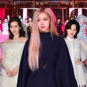 """Rosé (BLACKPINK) khoe dáng """"cực phẩm"""" giữa dàn sao Hoa Ngữ tại show Haute Couture của Valentino"""