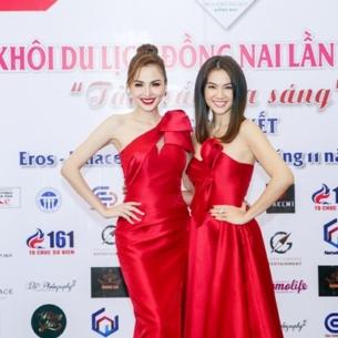 Hoa hậu Diễm Hương, siêu mẫu Anh Thư rạng rỡ trên ghế nóng vòng bán kết Hoa khôi Du lịch Đồng Nai 2019