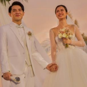 """""""Giải mã"""" chiếc khăn voan 5 mét của cô dâu Đông Nhi được NTK Chung Thanh Phong làm riêng"""