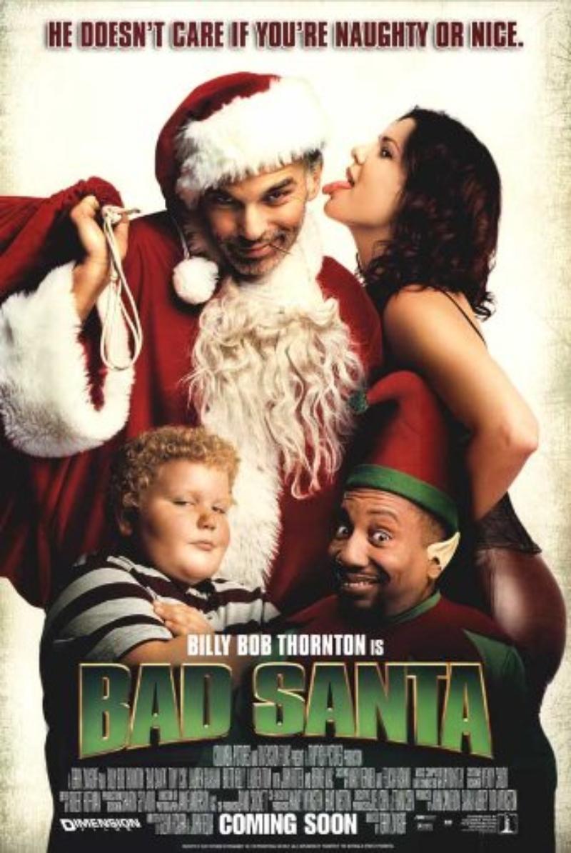 phim giáng sinh - poster phim bad santa