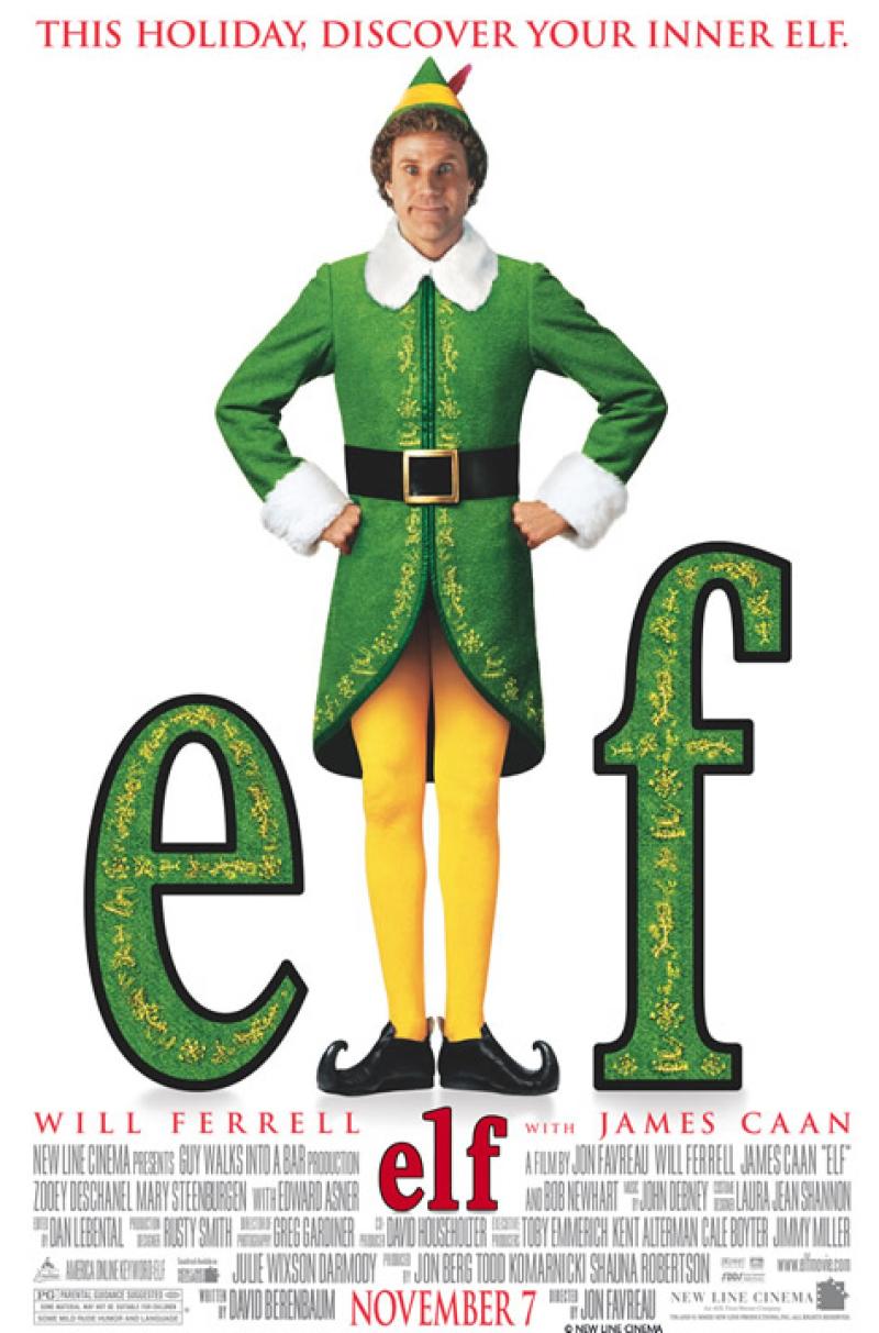 phim giáng sinh - poster phim elf