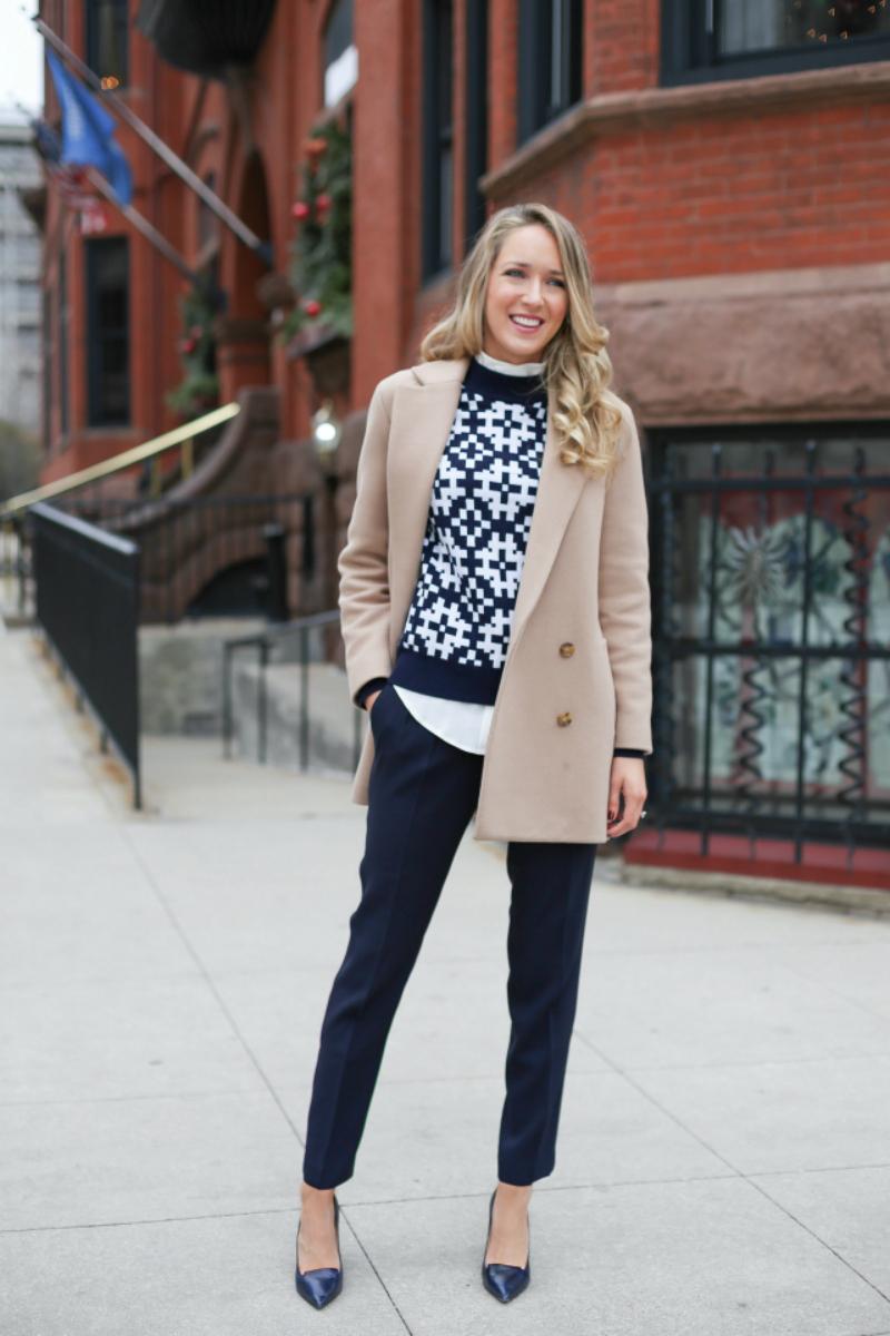 cách phối trang phục mùa đông kiểu formal