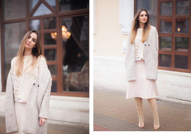 phối trang phục mùa đông với casual
