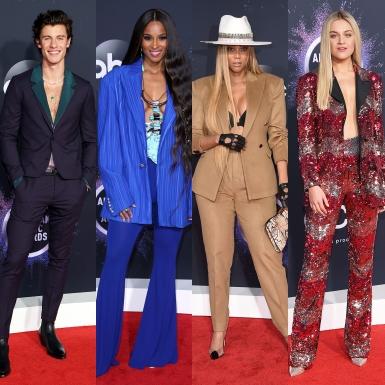 """Shawn Mendes, Ciara, Tyra Banks,… """"phong phanh"""" khi mặc suits trên thảm đỏ AMA 2019"""