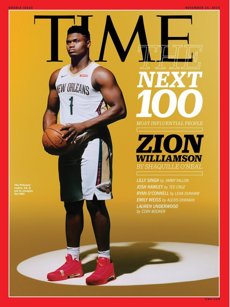 time 100 next - zion willianson