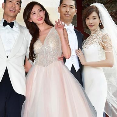 """Kết hôn ở tuổi 45, """"chị đẹp"""" Lâm Chí Linh thay 5 bộ váy cưới lộng lẫy"""