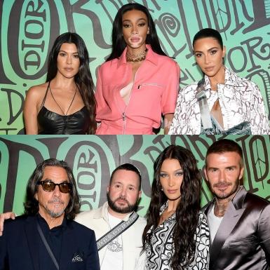 """""""Chị chị em em"""" nhà Kardashian đổ bộ hàng ghế đầu show Dior Men, ngồi cùng David Beckham, Maluma,…"""