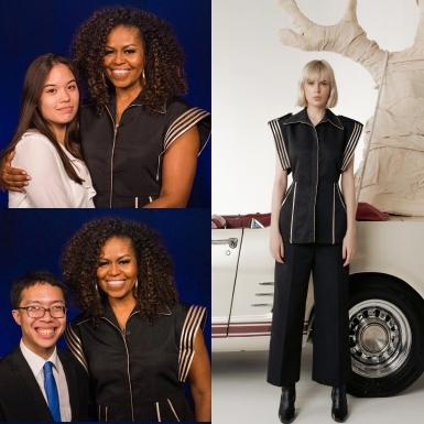 Trong 2 tháng, bà Michelle Obama hai lần diện thiết kế của NTK Nguyễn Công Trí