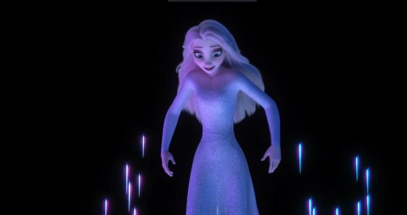 nữ hoàng băng giá 2 - kiểu tóc mới của elsa