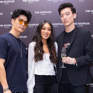 Thảo Nhi Lê hội ngộ bạn trai cũ Huy Trần cùng dàn fashionista cá tính tại tiệc khai trương The Kooples