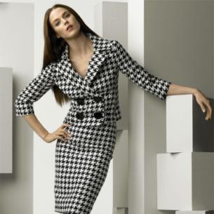 Gợi ý cách phối trang phục họa tiết houndstooth mùa Thu Đông sành điệu