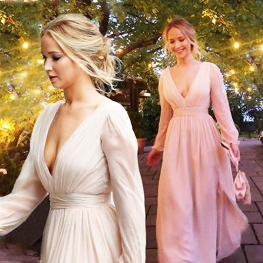 Jennifer Lawrence diện đầm pastel ngọt ngào có giá hơn 50 triệu đồng trong tiệc đính hôn bí mật