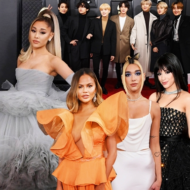 """Ariana Grande hóa công chúa, cùng BTS """"càn quét"""" thảm đỏ Grammy 2020"""