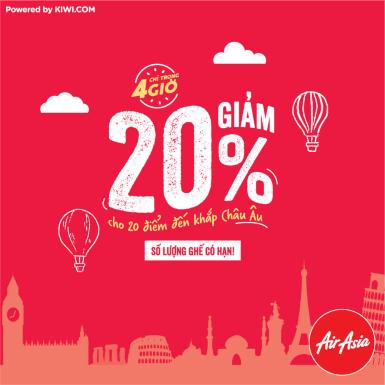 """Trải nghiệm du lịch châu Âu với ưu đãi """"khủng"""" từ AirAsia nhân ngày đầu năm mới"""