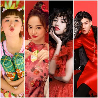 Kaity Nguyễn, Trang Hý và cặp đôi Trịnh Thảo – Soho tung bộ ảnh Tết ngập tràn sắc đỏ may mắn