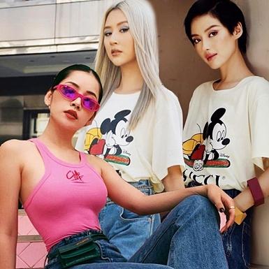 """Áo phông Mickey """"thống trị"""" street style sao Việt tuần qua"""