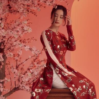 Jun Vũ điệu đà thướt tha trong những tà áo dài mừng Xuân Canh Tý