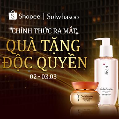 Sulwhasoo tung ưu đãi chưa từng có nhân dịp ra mắt cửa hàng chính hãng tại Shopee