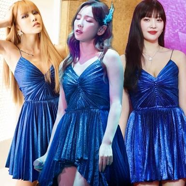"""Thiều Bảo Trâm """"đụng hàng"""" đầm Saint Laurent với Taeyeon và Joy (Red Velvet)"""