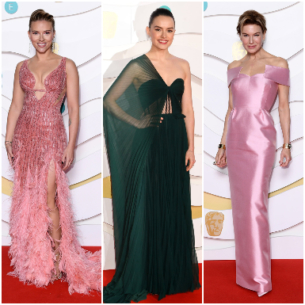 Giải BAFTA 2020: Sự lên ngôi của sắc hồng nữ tính và chất vải satin gợi cảm