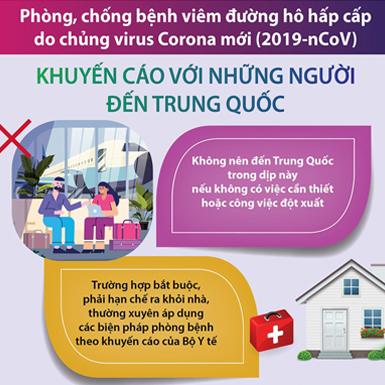 Phòng chống dịch do corona: Khuyến cáo với những người đến Trung Quốc