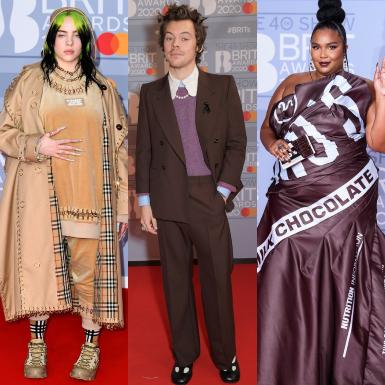 """Harry Styles thu hút với giày Mary Janes, Lizzo """"áp đảo"""" dàn sao với váy mô phỏng thanh chocolate tại thảm đỏ BRIT Awards 2020"""
