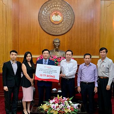 Toyota Việt Nam ủng hộ 10 tỷ đồng giúp phòng chống dịch Covid 19