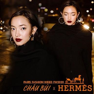 """Châu Bùi mặc thiết kế """"Made in Vietnam"""" dự show của Hermès"""