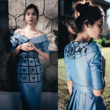 Kim Dung Next Top kiêu sa trong những thiết kế váy lụa thướt tha của NTK Hà Duy
