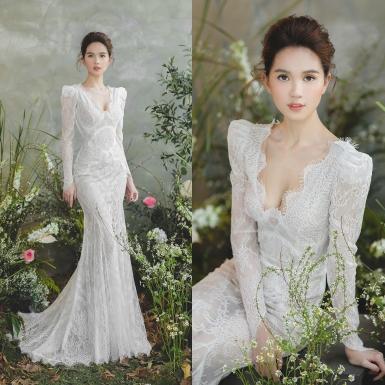 Chung Thanh Phong chọn Ngọc Trinh làm nàng thơ trong bộ ảnh đồ cưới đẹp ngất ngây