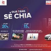 Toyota tặng quà cho khách hàng làm dịch vụ tại các đại lý trên toàn quốc
