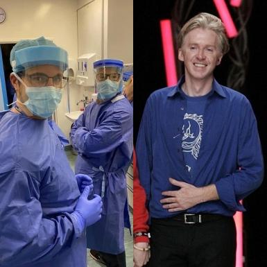 NTK mũ Philip Treacy sản xuất màng chắn bảo hộ chống giọt bắn cho bệnh viện ở London