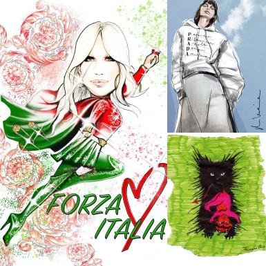 Các NTK gửi gắm những thông điệp tươi sáng đến Vogue Italia qua những bức phác họa