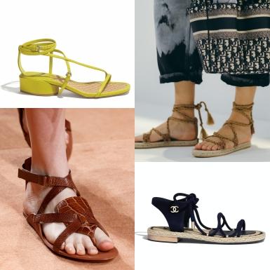 """Những đôi sandals đế bệt dành cho các nàng """"sợ độ cao"""""""